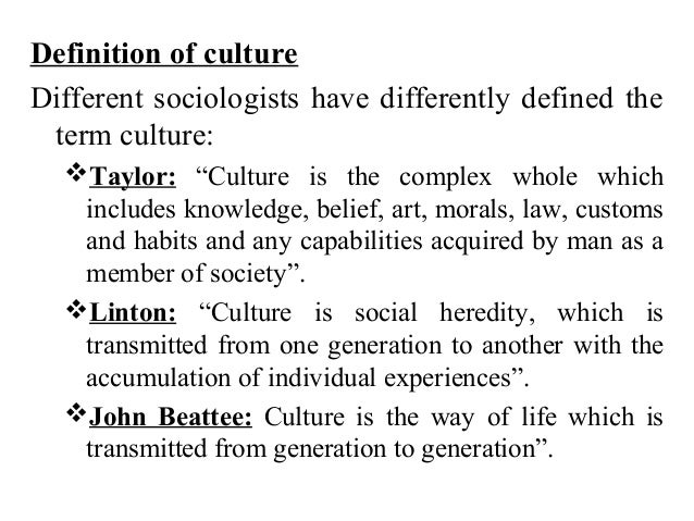Lecture 06.culture and types