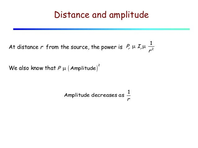 sound intensity and distance relationship