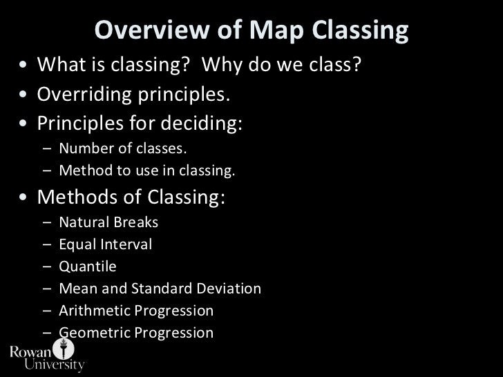 Overview of Map Classing<br />What is classing?  Why do we class?<br />Overriding principles.<br />Principles for deciding...