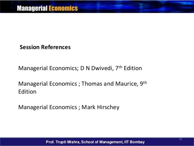 Managerial Economics By Dwivedi Ebook