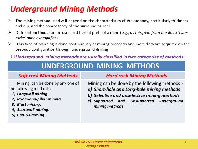 Long hole stopping mining method used in congo