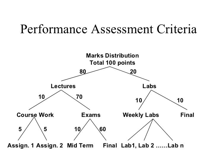 Performance Assessment Criteria                             Marks Distribution                              Total 100 poin...