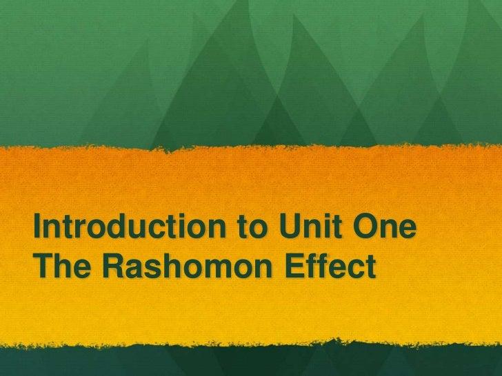 Introduction to Unit OneThe Rashomon Effect
