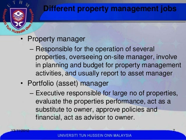 ... MALAYSIA; 7. Different Property Management Jobs ...