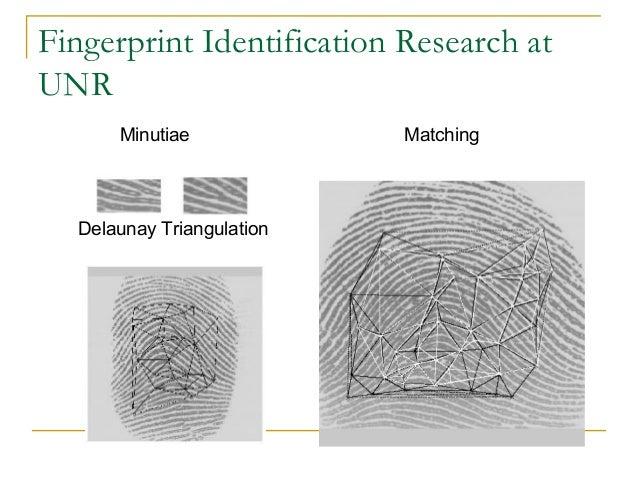 Fingerprint Identification Research atUNRMinutiae MatchingDelaunay Triangulation