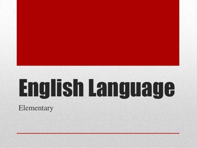 English Language Elementary