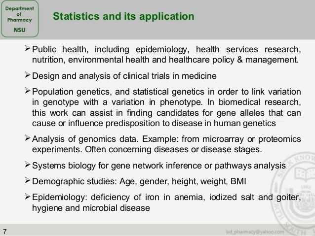relationship between statistics and medicine