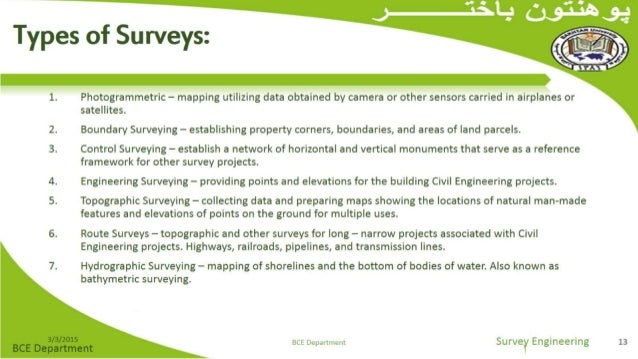 types of surveys methods introduction to surveying 7004