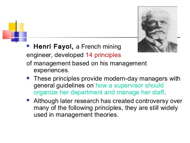 henri fayol introduction Introduction henri fayol was born in 1841 in istanbul, is often known as the person who developed a general theory of business administration he was a mining.