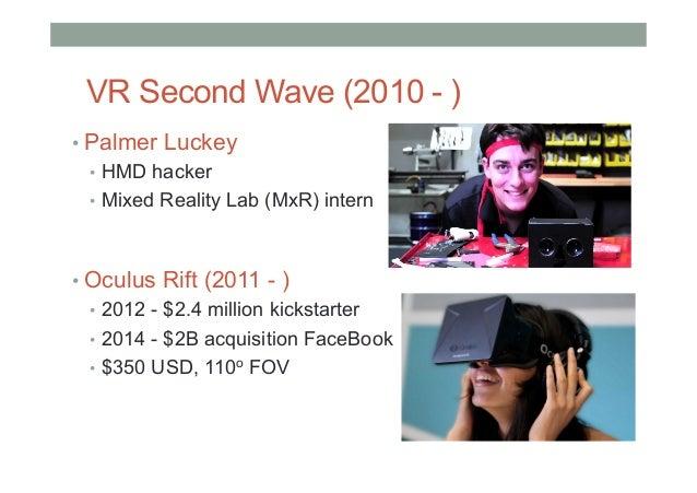Oculus Rift Sony Morpheus HTC/Valve Vive 2016 - Rise of Consumer HMDs