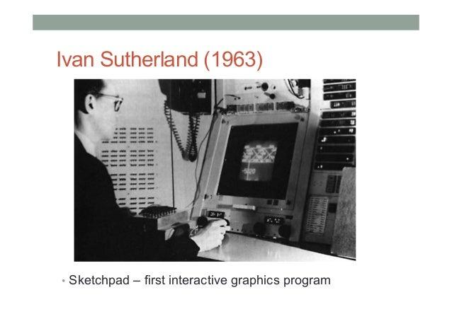 Ivan Sutherland (1963) • Sketchpad – first interactive graphics program
