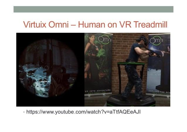 Virtuix Omni – Human on VR Treadmill • https://www.youtube.com/watch?v=aTtfAQEeAJI