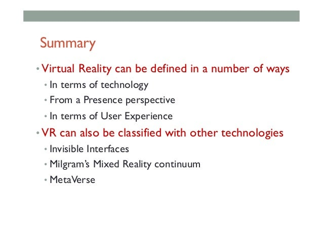 HISTORY OF VR