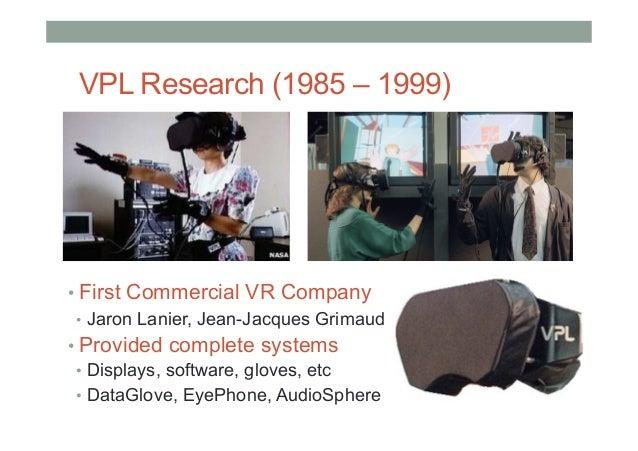 University of Washington (1989 - ) • Human Interface Technology Laboratory (HIT Lab) • Founded by Tom Furness III • Man...