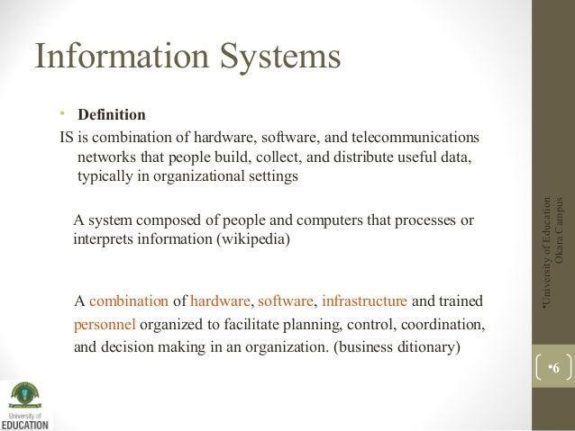 Lecture 1 Information System