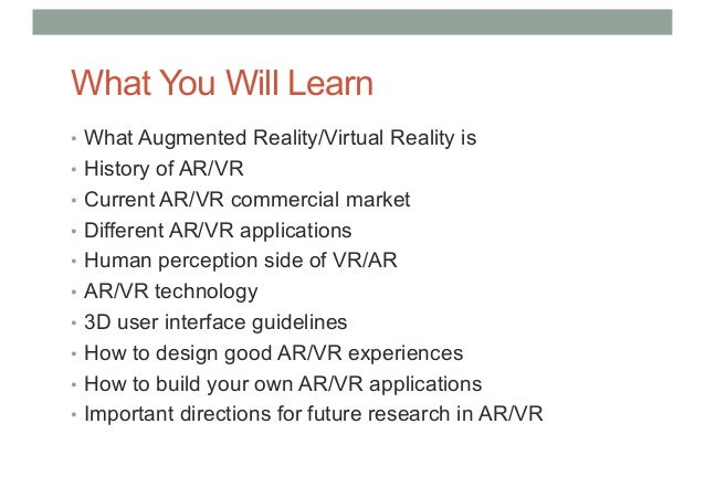 4124cf437c2 COMP 4010 - Lecture1 Introduction to Virtual Reality