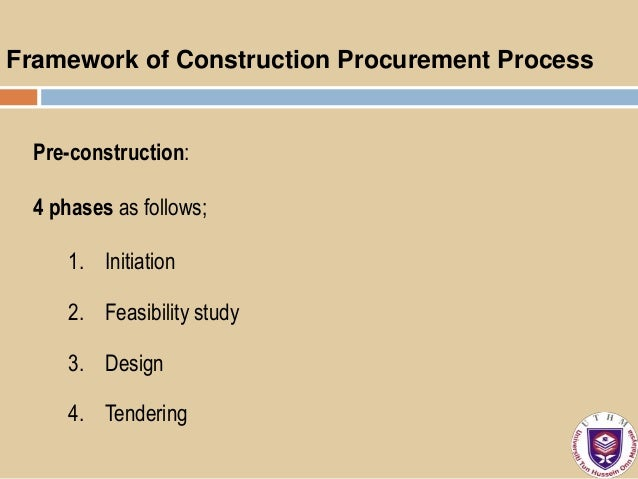 construction procurement methods compared It focuses on the role of the client, current methods of procurement, the  and  what can be done to improve construction procurement practice.