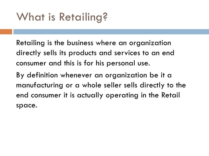 introduction to retail business Retailing, sales and customer service teaching resources suitable for btec, nvq  and other vocational  an introduction to the structure and jobs of the industry.