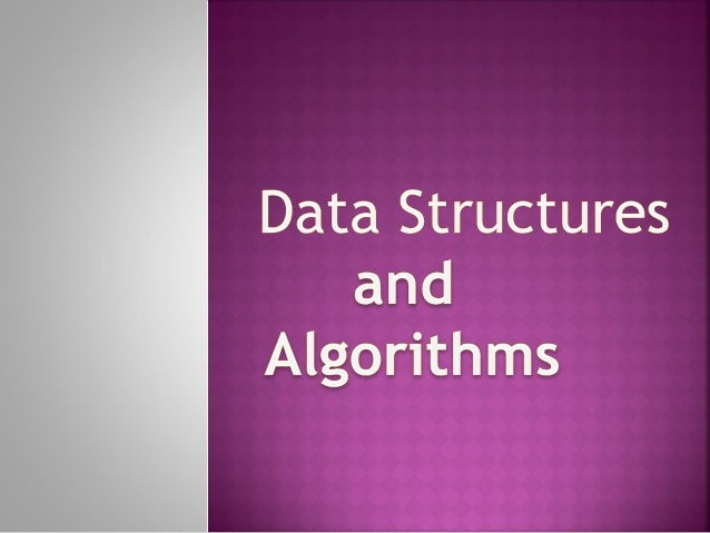 lecture 1 data structures and algorithms