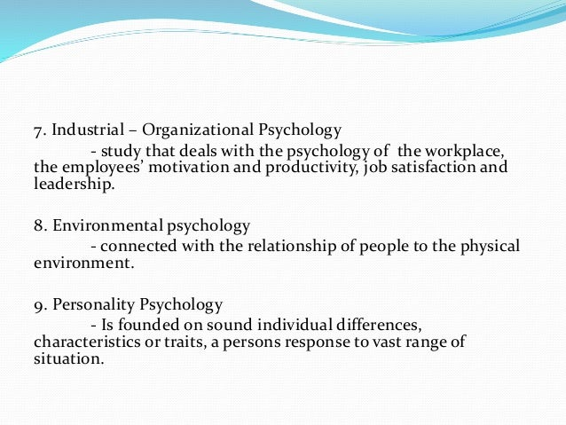 the general concepts of psychology Basic principles of psychology  the development of assessments to measure this concept is at the core of the development of psychological science itself.