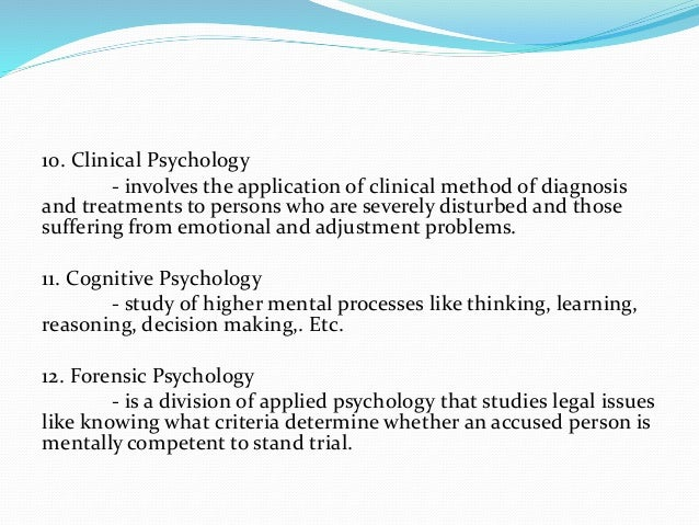 the general concepts of psychology 5 major perspectives in psychology psychology is the scientific study of how we think, feel and behave in this lesson, you'll get an overview of the five major.