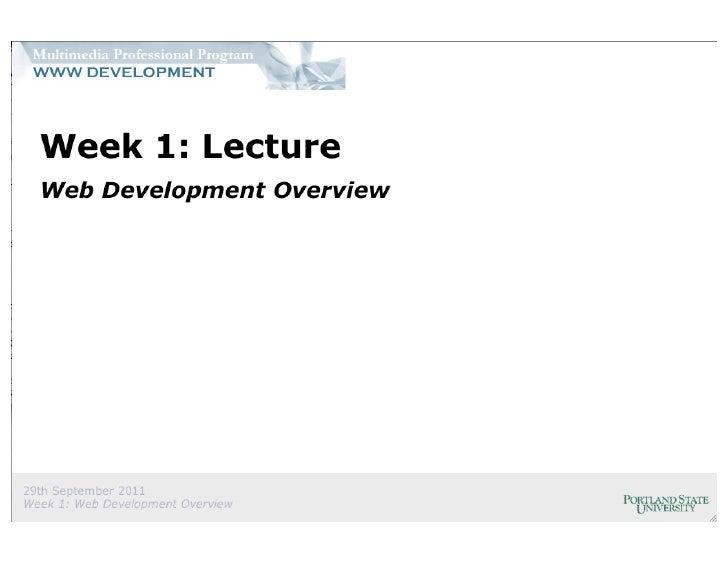 Web Development Overview (partial)