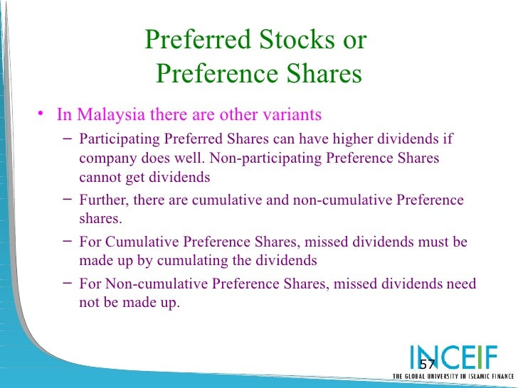 Lecture 10 57 preferred stocks or preference shares in malaysia yelopaper Choice Image