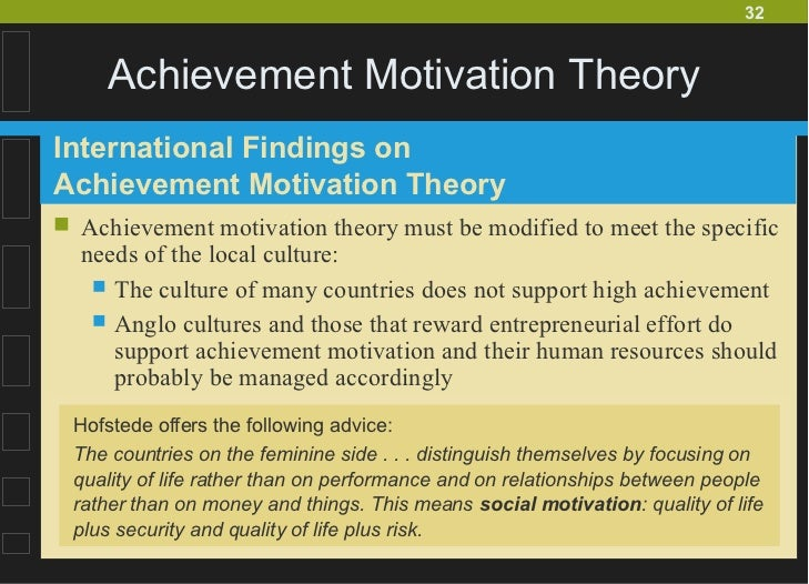 achievement motivation theory What motivates you in life in this lesson, we will focus on achievement as the prime factor of motivation and how it influences some to set and.