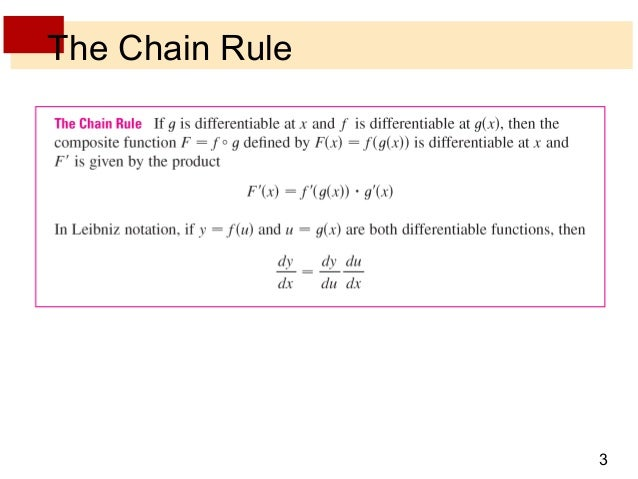 Lecture 10 chain rule - section 3.4