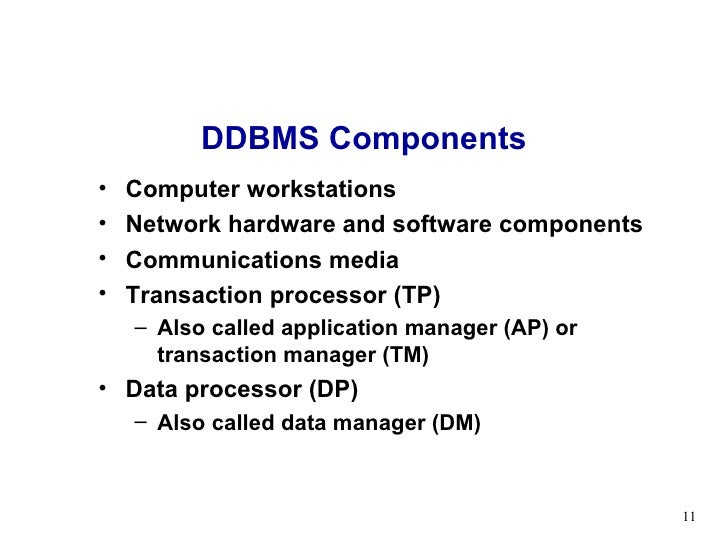 Lecture 10 distributed database management system