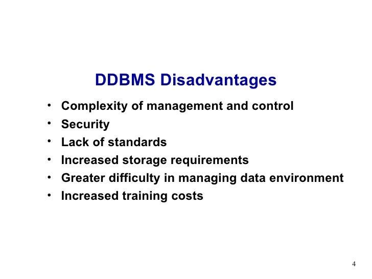 disadvantages of database management system Lecture 10 distributed database management system
