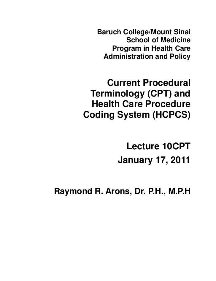 Baruch College/Mount Sinai                  School of Medicine              Program in Health Care           Administratio...