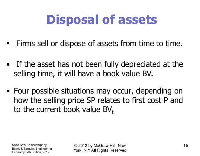 Lecture # 10 eva and disposal of assets