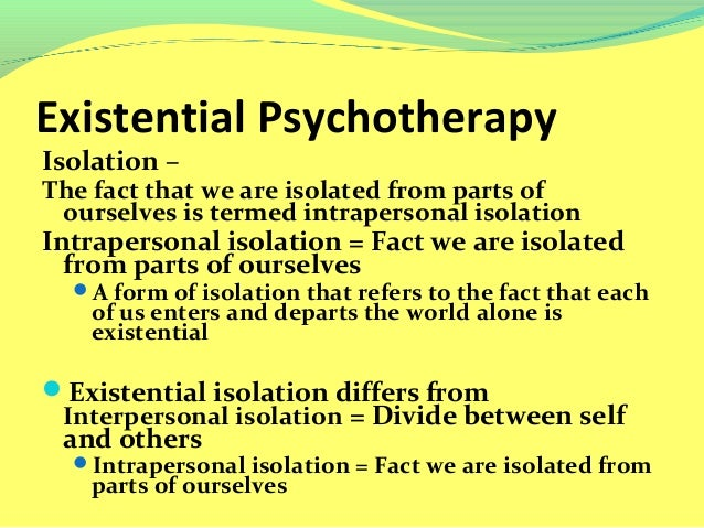 client therapist relationship existential therapy for depression
