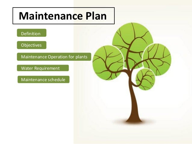 how to write a maintenance plan