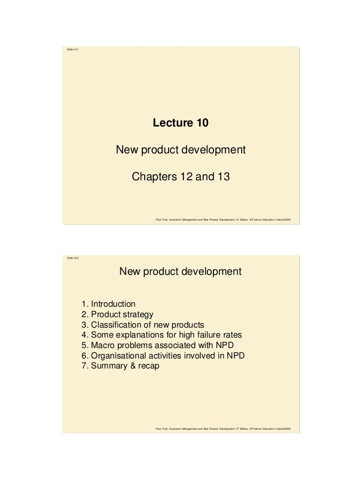 Slide 12.1                                Lecture 10                      New product development                         ...