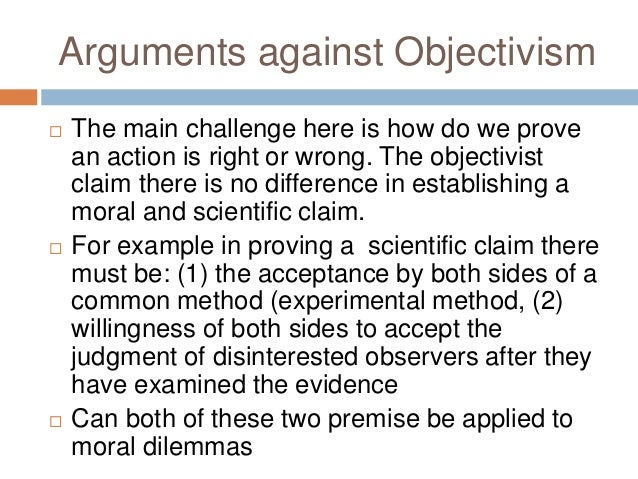a paper on moral debate of relativism versus objectivism Internalism and externalism a paper on moral debate of relativism versus objectivism are two opposing ways of explaining various subjects in several areas of philosophy.