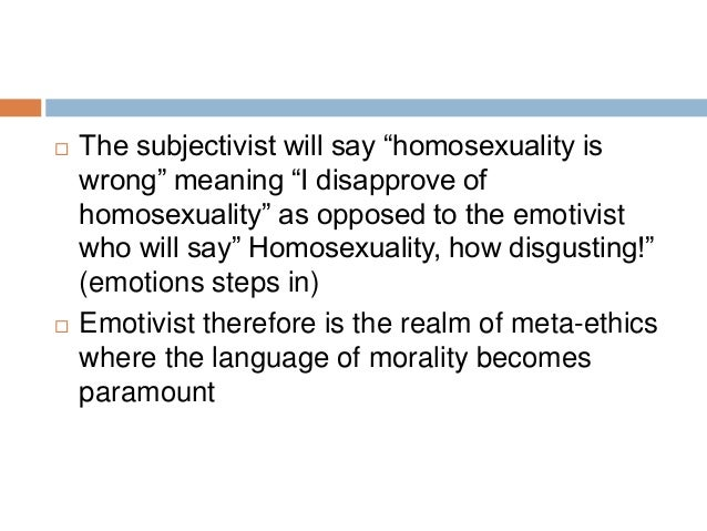Non objectivism and homosexuality statistics