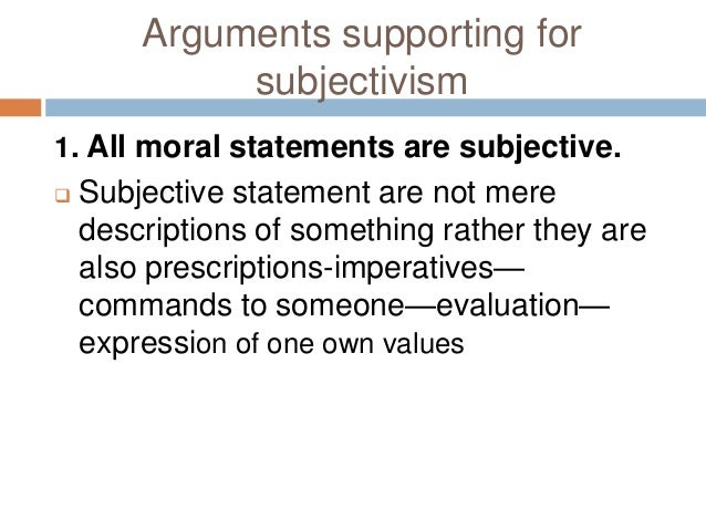 subjectivism and emotivism in normative ethics S u b je ctiv ism in e th ics the evolution of the theory the first stage: simple subjectivism the second stage: emotivism are there any moral facts are there proofs in ethics the question of homosexuality the basic idea of rule to ethics subjectivism fails to be provable because it.