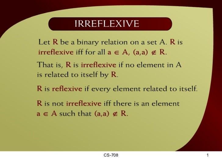 Irreflexive – (13 - 8)