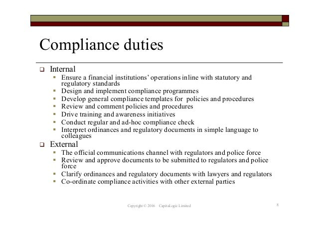 Chapter 8 financial compliance programme - Financial compliance officer ...