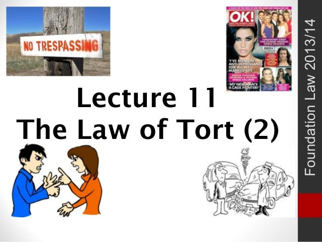 Lecture 11 The Law of Tort (2) FoundationLaw2013/14