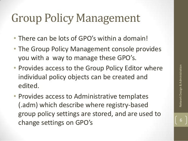 Delegated Rights To Group Policy Objects