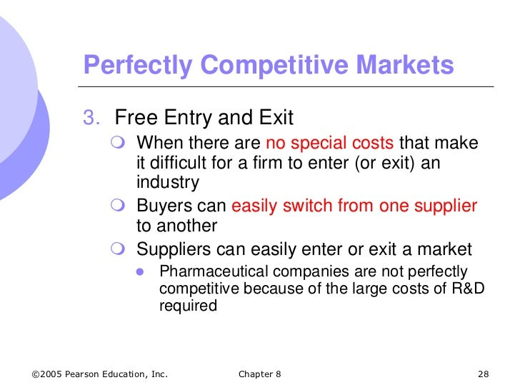 characteristics of a perfect market A perfectly competitive market is a hypothetical the following characteristics: there is perfect the characteristics of perfect competition.