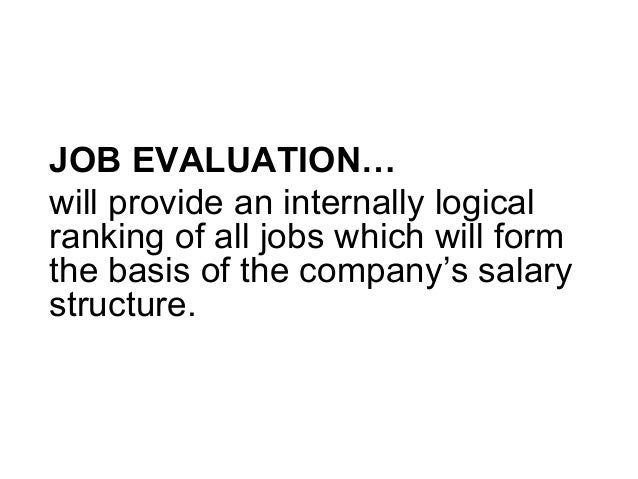 Lecture 11 Job Evaluation System – Lecture Evaluation Form