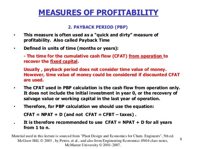 How To Calculate Miles Per Gallon >> Lecture # 11 measures of profitability i