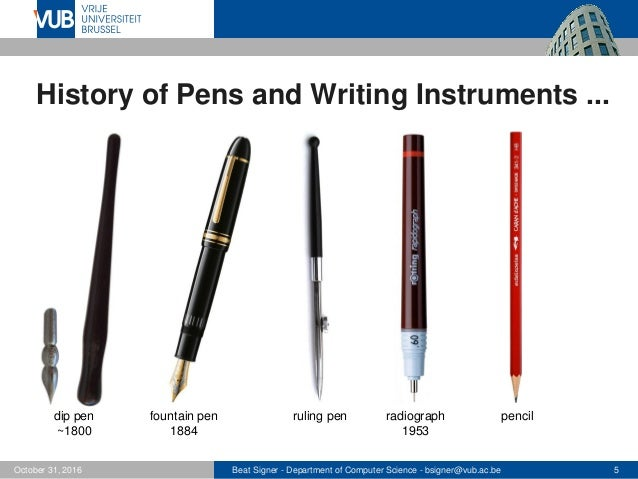 Stylus, Quill and Pen: The Short History on Writing Instruments