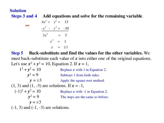 Lecture 11 systems of nonlinear equations – Systems of Nonlinear Equations Worksheet