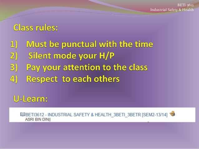 BETI 3612 Industrial Safety & Health