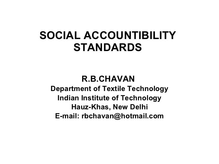 Lecture 12 b social accountibility standards